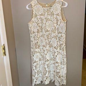 Ronni Nicole White Lace Dress